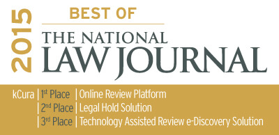 kCura Named as Best Online Review Platform in The National Law Journal