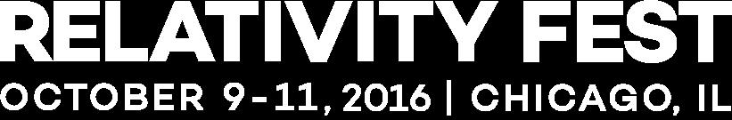 Relativity Fest 2016   October 9-11