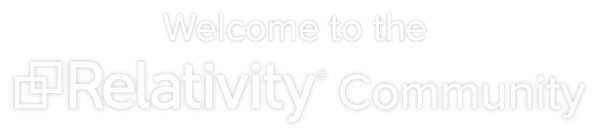 Welcome to the Relativity Community