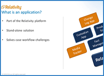 Building Applications in Relativity